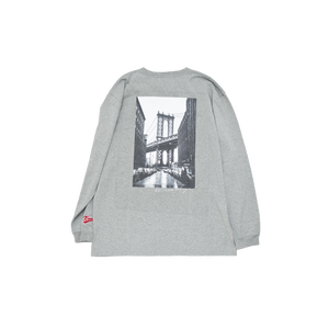 K'rooklyn Long T-Shirt × cherry chill will. - Gray
