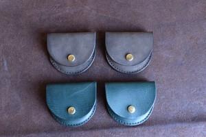 革のアクセサリーケース(緑 or グレー)