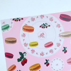 送料無料 オリジナル デザインペーパー macaron&berry ピンク 10枚