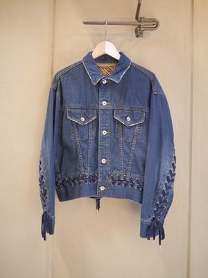 G.V.G.V. / Lace up  Denim jacket (BLUE)