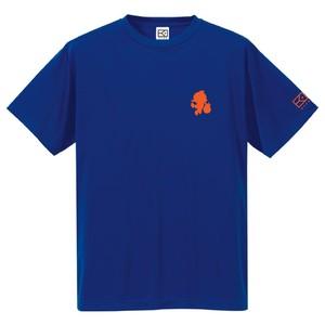 ワンポイントキャラクターTシャツ(ブルー×オレンジ)