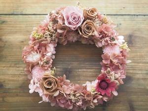 Bonheur Couronne <Antique Rose>* 幸せ舞い込むリース・壁掛け