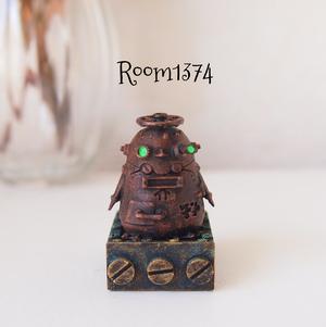 【液体の街】ポストペンギンロボ(モニター用フィギュア)銅褐色