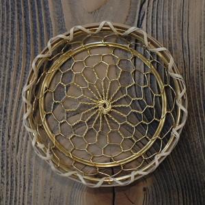 辻和金網 手編み銅製コースター(金メッキタイプ)