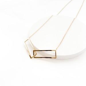 rectangle hoop necklace n396