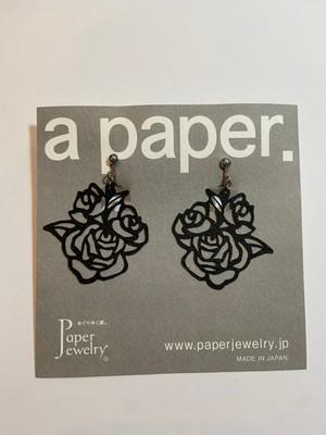【Paper Jewely】ローズ/イヤリング