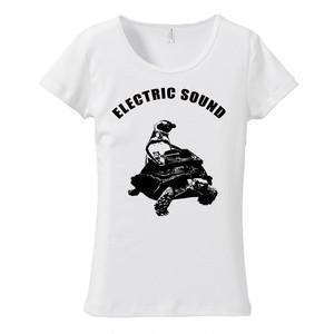 [レディースTシャツ] ペンギンとカメとターンテーブル