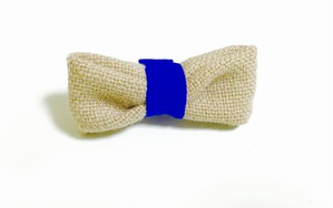 Gabriel ribbon clip (beige×blue)
