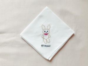 刺繍ハンカチーフ BUNNY