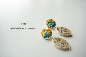 刺繍&ビーズ刺繍のイヤリング №024