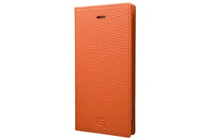 GRAMAS Shrunken-calf Full Leather Case for iPhone 7(Orange) シュランケンカーフ 手帳型フルレザーケース
