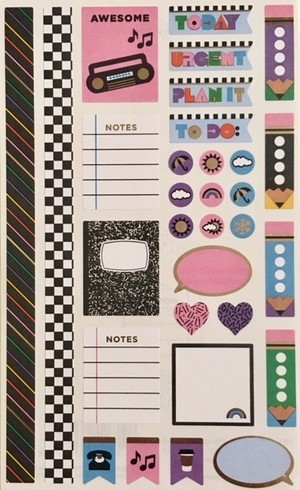 Giant 90's Throwback Planner Accents