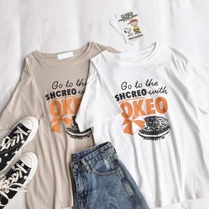【トップス】新作アルファベットプリントカジュアル短袖Tシャツ