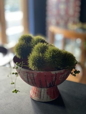 畑中圭介 赤と黒の高坏鉢