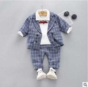 【セットアップ】チェック柄ファッション学園風子供服男の子3点セット24835407