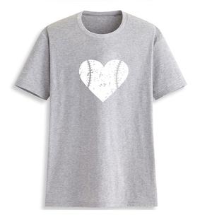 【100%コットン】ハート♡baseball柄☆Tシャツ