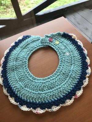 手編みスタイ(ライトブルー)