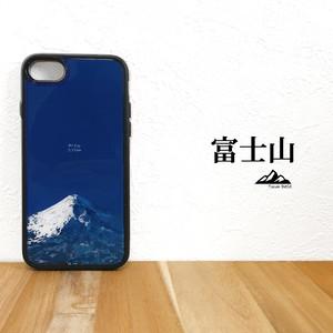 富士山 強化ガラス iphone Galaxy スマホケース 登山 山 スマホカバー 世界遺産