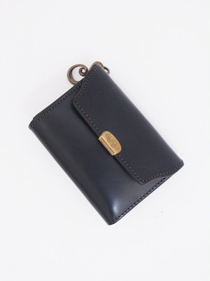 DUAL×EGO TRIPPING / COMPACT WALLET BRIDLE LEATHER コンパクトウォレットブライドルレザー / BLACK 693301-05