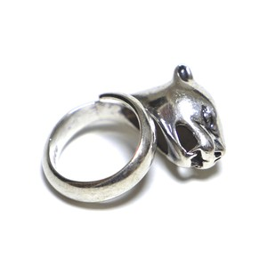 Vintage Sterling Silver Mexican Jaguar Head Ring