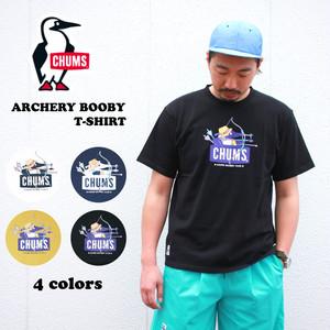 【ゆうパケット1点送料無料】チャムス CHUMS アーチェリーブービー 半袖Tシャツ メンズ レディース アウトドア Archery Booby T-Shirt CH01-1707
