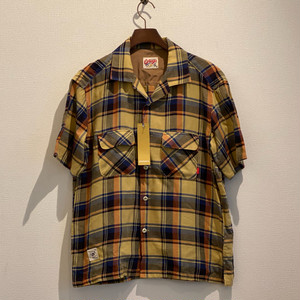 OPEN COLLAR SHIRTS - CHECK - (YELLOW) GERUGA