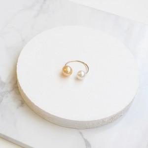 ■double pearl hoop -yellow-■ ダブルパールフープ イエロー