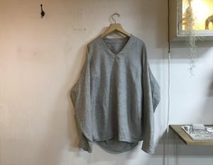 "brusco.k""U neck turtle smock gray"""