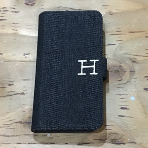 HR.REMAKE ALL PURPOSE H EMB DENIM PHONE CASE BLACK
