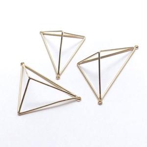 両カン立体三角枠チャーム