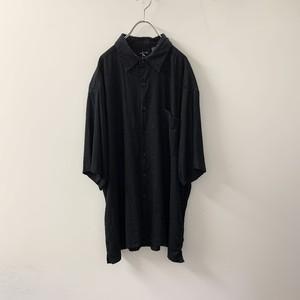 GEORGE リネン/レーヨン シャツ ブラック size XL メンズ 古着