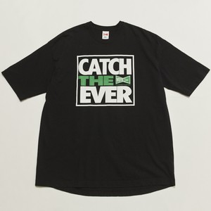 """CATCH THE EVER"" PRINT BIG TEE - BLACK"