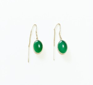 【SELECT】green agate  ピアス