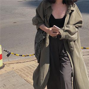 【EruMon】ミリタリーシャツワンピース シャツワンピ アウター カーデ シャツ