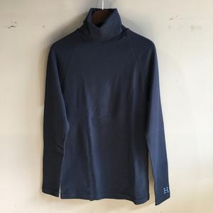 H.R.MARKET ストレッチフライス タートルネックロングスリーブTシャツ BLACK