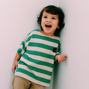 "Kids Green Stripe ""Talk"" T-shirts"