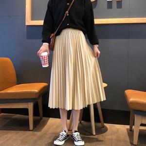 【ボトムス】注目新作スウィートハイウエストロングプリーツスカート18296590