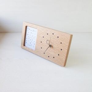 木の時計&フォトフレーム No126 | ナラ