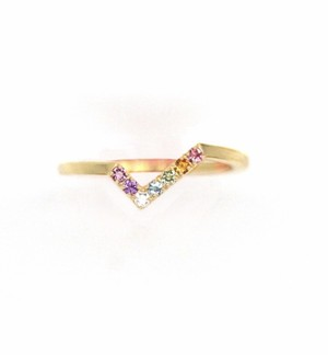 Amulet angel WINGfly color ring K18YG