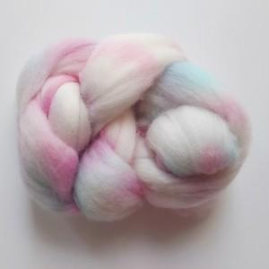 手染め羊毛 コリデール レインボー染0601  約30g
