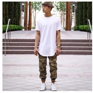 Tシャツ メンズ ロング丈 シャツ メンズ tシャツ ホワイト Lサイズ spab655