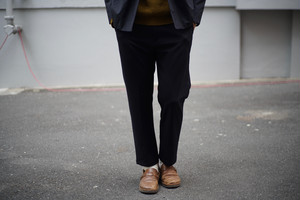 LAMOND / CENTER PRESS TAPERED PANTS