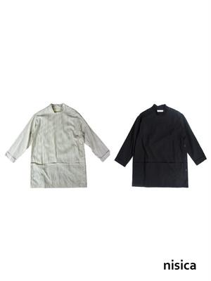 nisica(ニシカ)スモッグロングシャツ レディース NIS-803