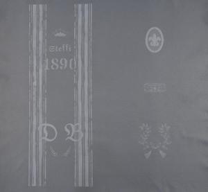 レザープリント帆布 「D&B Vintage Collection」フルパネル(グレー)