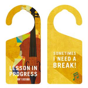 LESSON IN PROGRESS 練習中 バイオリン[1136] 【全国送料無料】 ドアノブ ドアプレート メッセージプレート