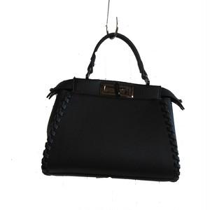 ハンドバッグ 黒 韓国製 未使用品