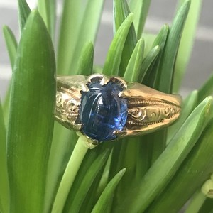 Cabochon Sapphire Victorian Ring