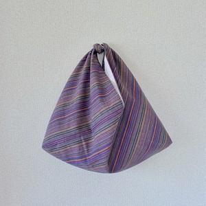 先染インド綿×先染リネン あずま袋