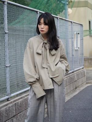 NATSUMI ZAMA Imperial Ribbon Pullover Grey