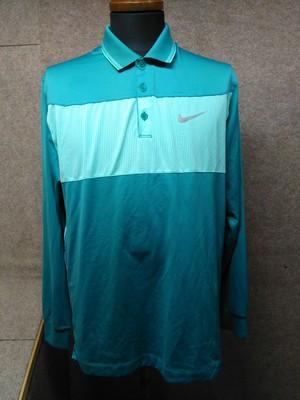 ナイキ NIKE ゴルフ ポロシャツ L グリーン u1145a